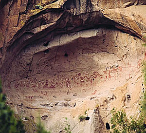 Painted Cave, backcountry of Bandelier Nationa...
