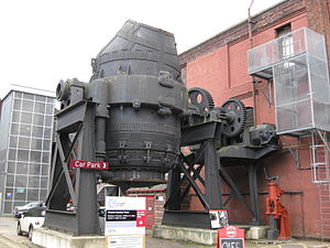 English: Bessemer Converter, outside entrance ...