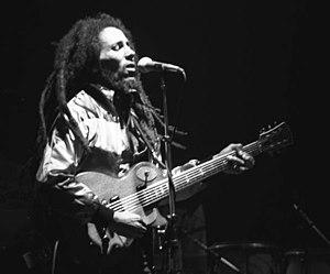 Bob Marley en un concierto en Zúrich, Suiza, 30 de mayo de 1980