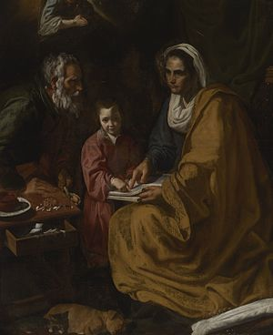 English: Education of the Virgin, attributed t...