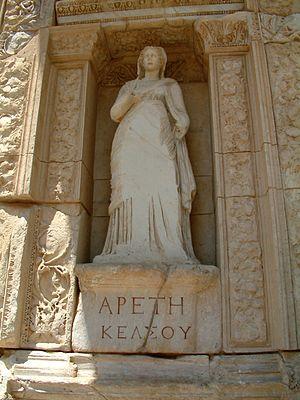 Personification of virtue (Greek ἀρετή) in Cel...