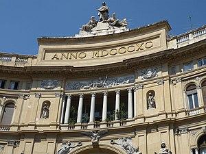 Español: Fachada de la Galería Umberto I, Nápoles