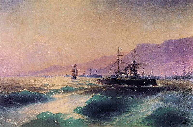 File:Ivan Constantinovich Aivazovsky - Gunboat off Crete.JPG