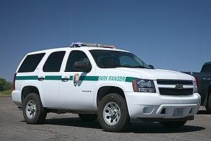 Deutsch: National Park Service Ranger Fahrzeug...