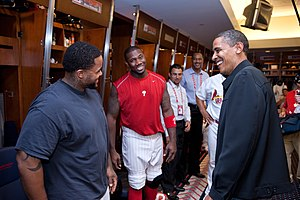 English: Prince Fielder (left), Ryan Howard (c...