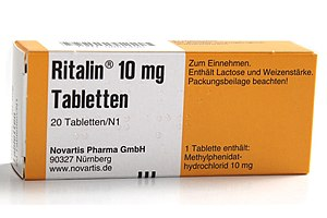 English: Ritalin package. Deutsch: Ritalin-Fal...