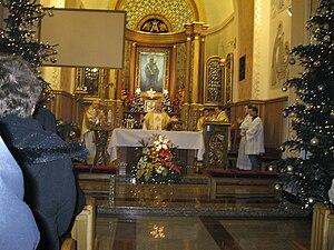 English: Shrine to the Virgin Mary in Szczyrk,...