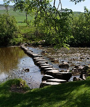 English: Stepping Stones Stepping stones over ...