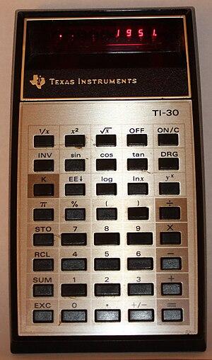 English: Texas Instruments, TI-30 electronic c...