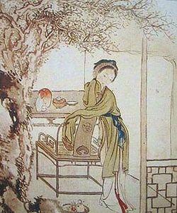 Scena da Il sogno della camera rossaRaffigurazione di Xu Bao, 1810