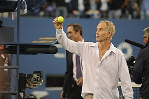 English: John McEnroe at the 2009 US Open. Fra...