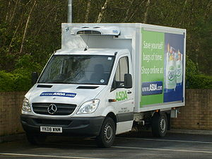 A brand new ASDA Mercedes-Benz Sprinter