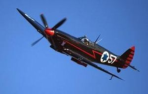 English: Black Spitfire of former Israeli pres...