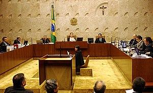 Português: O Supremo Tribunal Federal (STF) na...