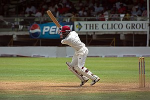 Brian Lara batting for West Indies against Ind...