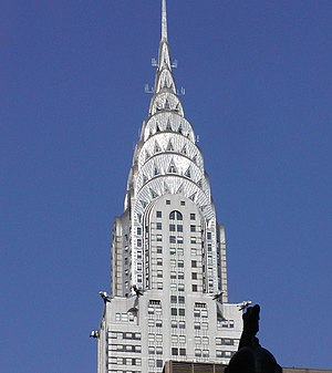 New Yorker Chrysler Building, oberer Gebäudete...
