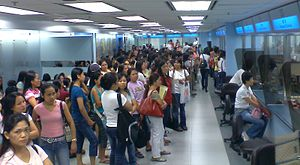 Queues at the Immigration Department to deal w...