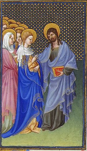 Folio 31r - David Foresees the Mystic Marriage...