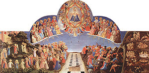 San Marco, Florence,The Day of Judgement, predella panel to surmount an altarpiece showing the precision, detail and colour required in a commissioned work