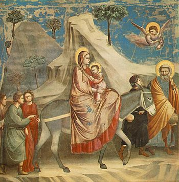 The Flight into Egypt by Giotto di Bondone (13...