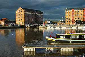 Gloucester Docks at Dusk