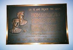 This plaque at Wheaton College commemorates tw...
