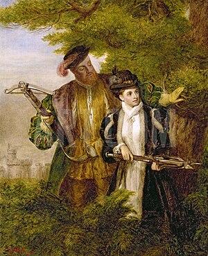 King Henry and Anne Boleyn Deer shooting in Wi...