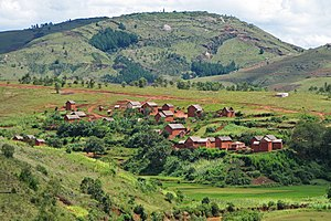 Village in Central Highlands, south of Antananarivo