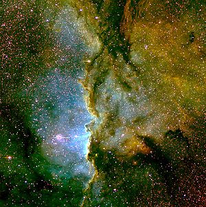 Three-colors image of NGC 6193 and NGC 6188 ob...