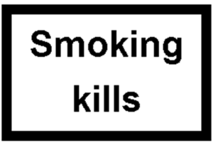 English: Smoking kills. Written on cigarette b...
