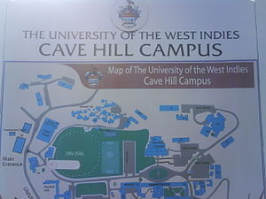 English: The Cave Hill Campus of the Universit...