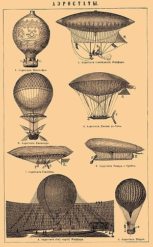 Various air balloons and airships.