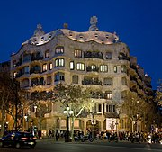 The Casa Milà, in the Eixample, Barcelona.