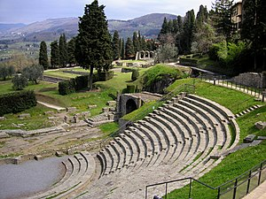 Roman theater in Fiesole, Italy