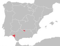 Mapa distribuicao lynx pardinus 2003.png