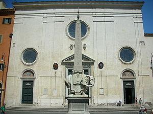 Façade with obelisk, Santa Maria sopra Minerva...