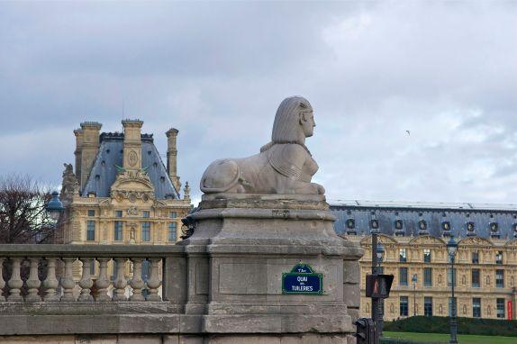 Sphinge du jardin des Tuileries à Paris.