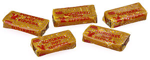 Squirrel Nut Zippers candies, made by Necco.