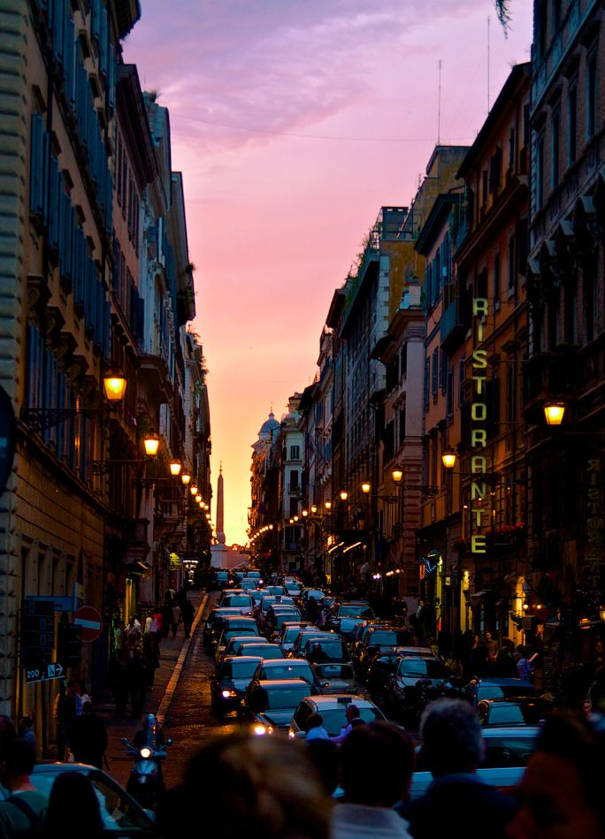 Sunset on the Streets of Rome (7578966218)