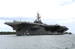 The air craft carrier USS Kitty Hawk (CV 63) a...