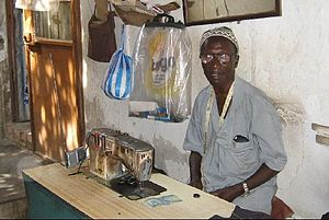 English: Banjul, tailor
