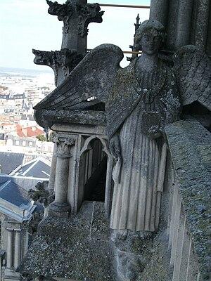 Français : ange protant la bible, la parole de...