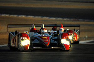 Audi Racing North America's Audi R10 TDIs at t...