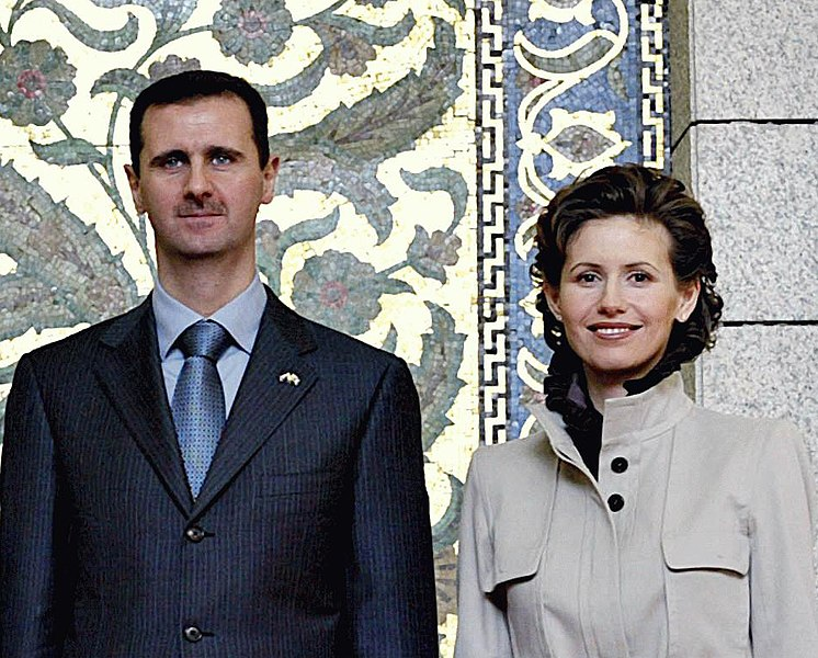 Syrian President for Life Bashar Assad and wife