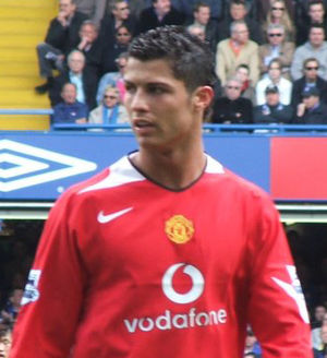 Cristiano Ronaldo; image cropped from Image:Ro...