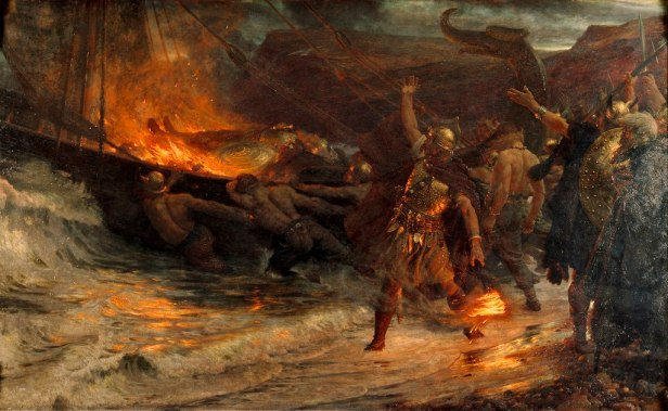 """""""The Funeral of a Viking"""" by Frank Dicksee"""