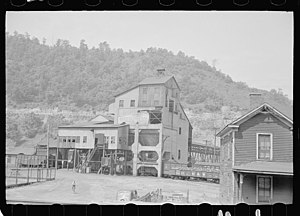 English: A coal mine in Floyd County, Kentucky...