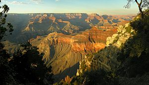 view into Grand Canyon from South Rim, Arizona...