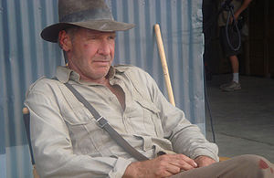 First shot of Indiana Jones on the set of part 4