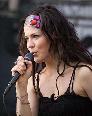 Jenni Vartiainen, a Finnish pop singer at Himo...